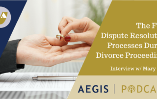 The Four Dispute Resolution Processes During Divorce Proceedings Mary Neff Podcast AEGIS
